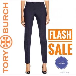 "Tory Burch ""Eliza"" Stretch-Wool Skinny Pants HP"